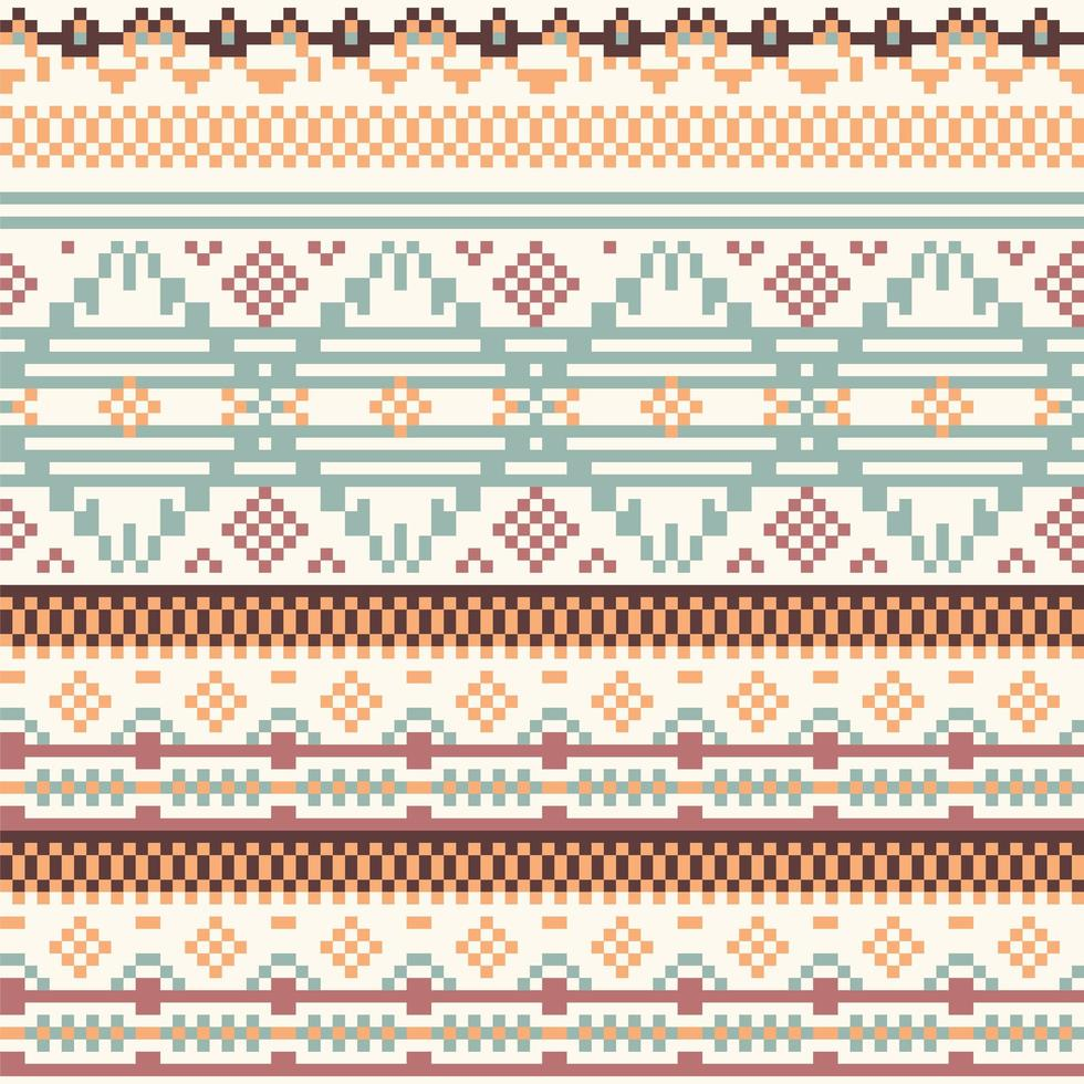 Geometrie Stammes native Pixel Muster vektor