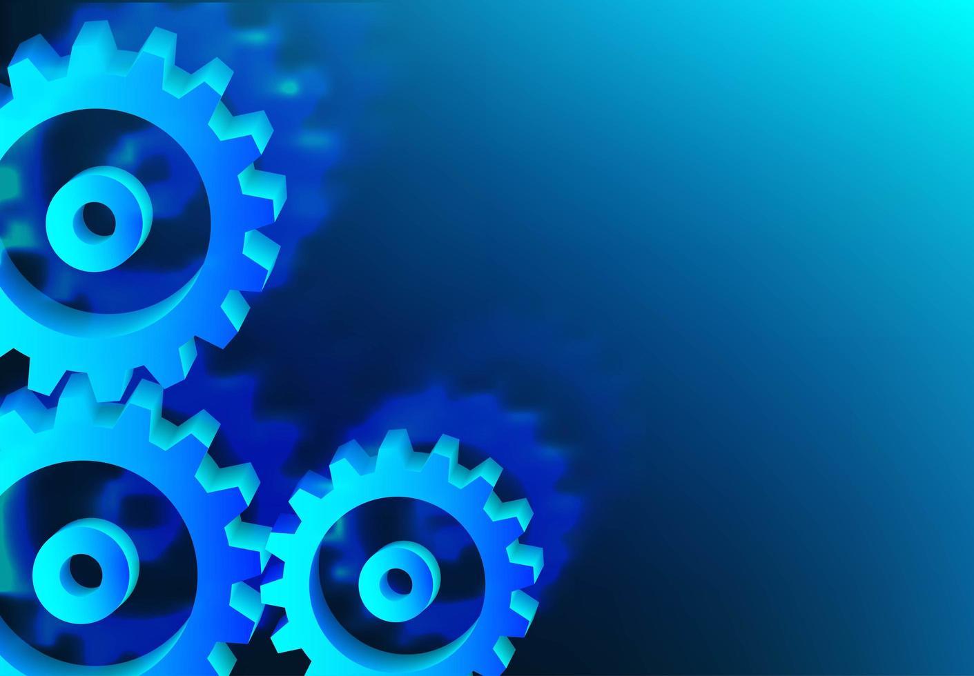 Mechanismus System Zahnräder in blau vektor