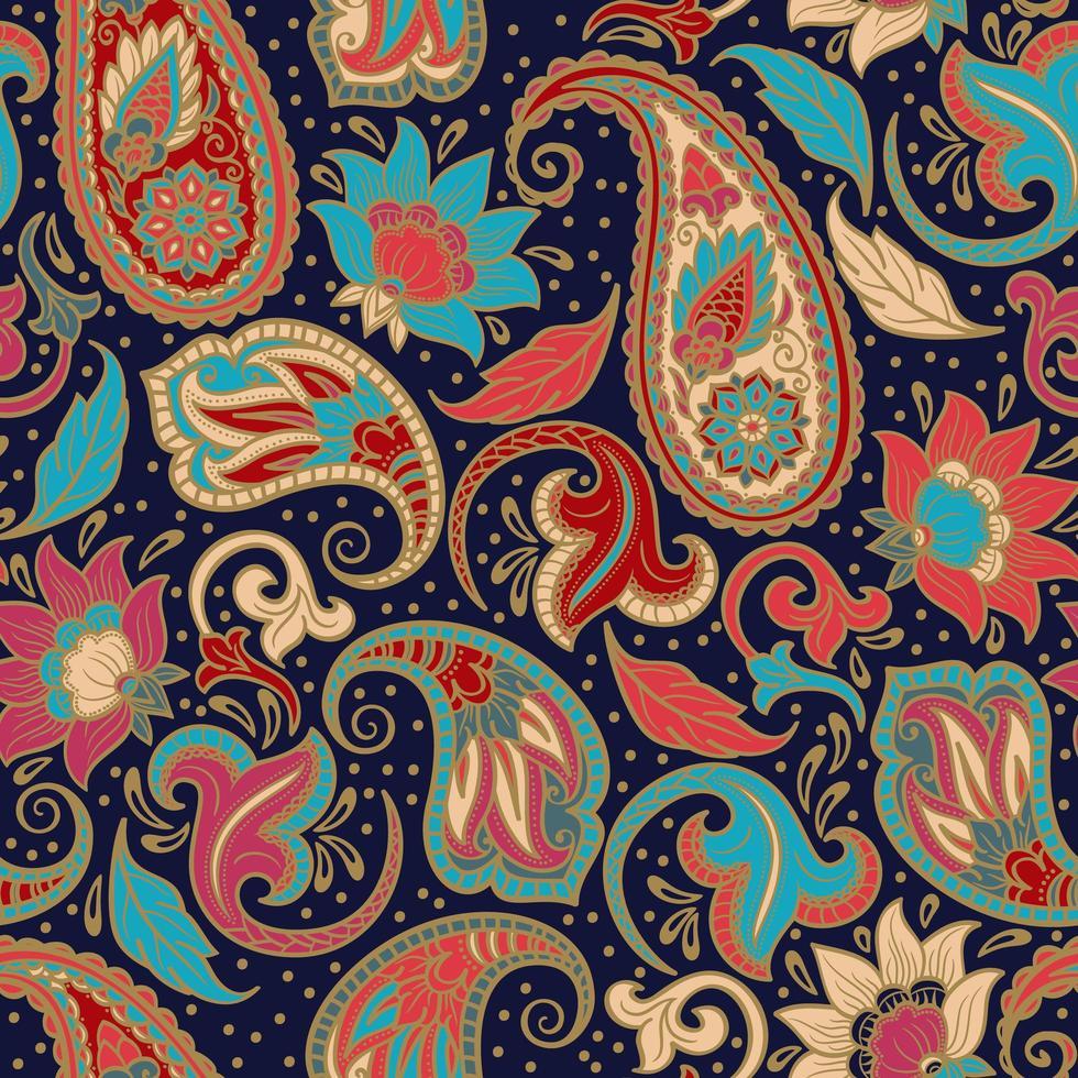 indiskt sömlöst mönster vektor