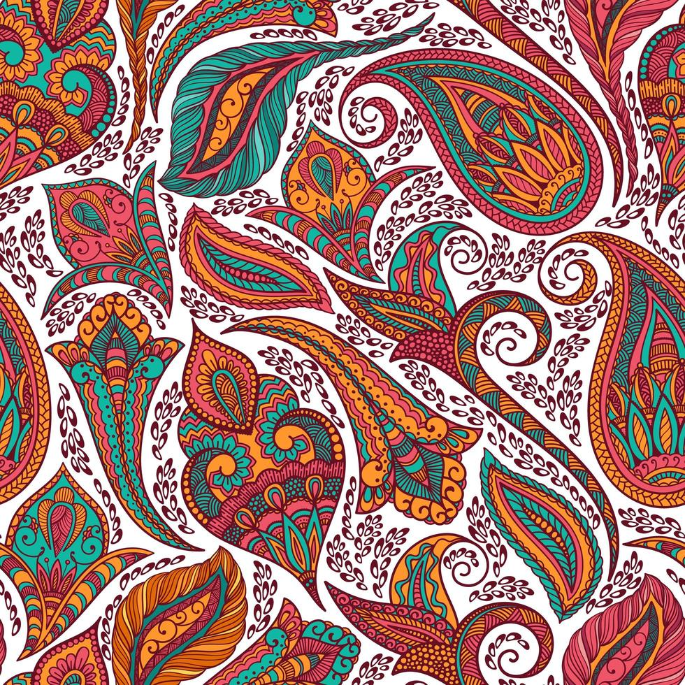 buntes Muster des Stammes-Paisley vektor