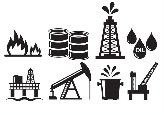Ölfeld Ikonen vektor