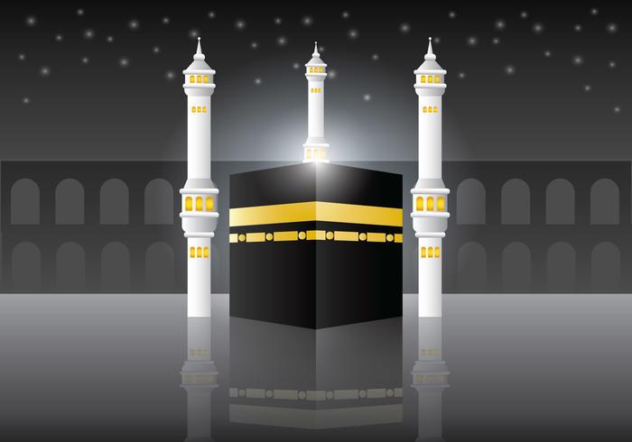 Makkah Al-Mukaram Vektor Bakgrund