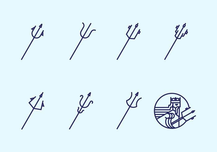 Poseidon spear icon vektor