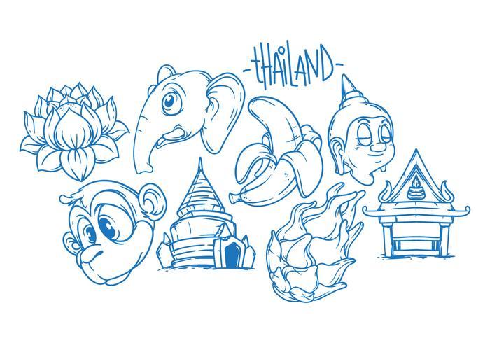 Kostenlose Thailand Illustration Vektor