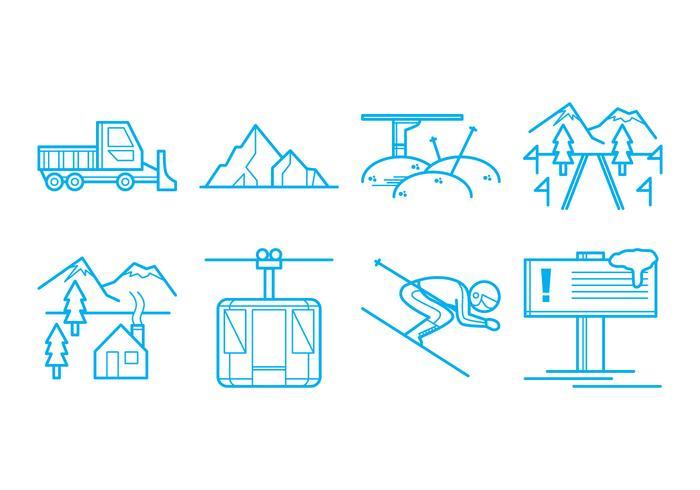 Free Ski Resort Icon Vektor