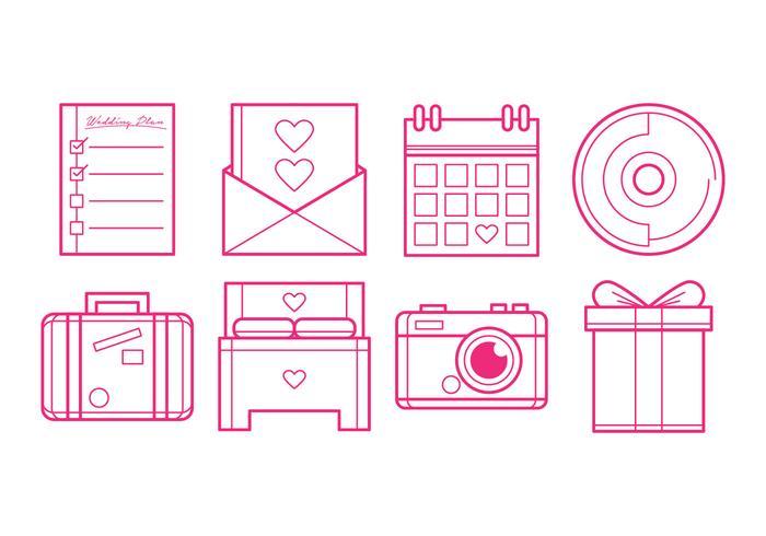 Kostenlose Hochzeit Plan Icon Vektor