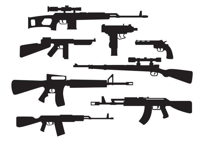 Free Military Waffen Silhouette Vektor