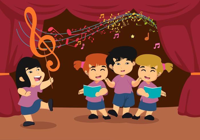 Gratis Kids Choirs Vector