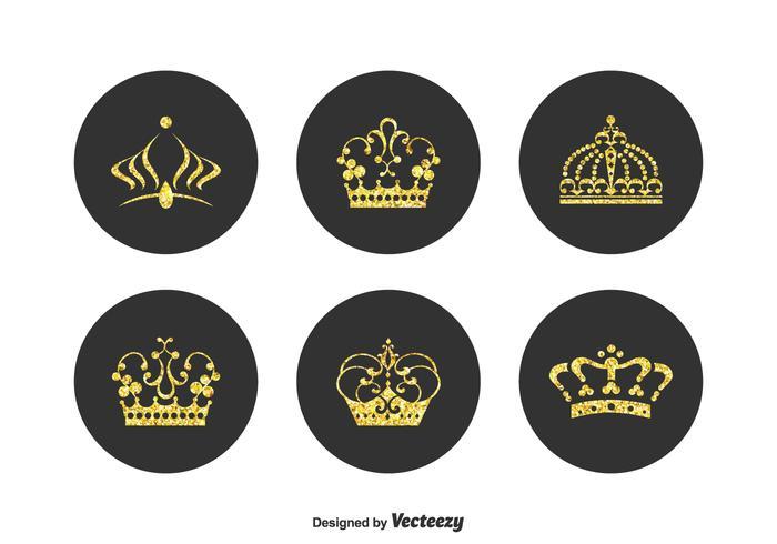 Free Golden Crown Pageant Vektor Set