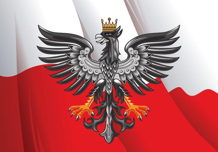 Vektor-Illustration der erstaunlichen horizontalen polnischen Flagge vektor