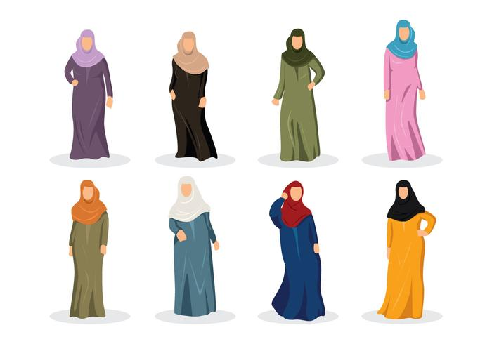 Kostenlose Abaya Vektor