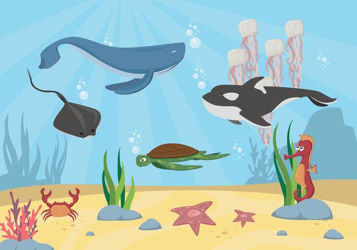 Freier Meeresboden Vektor