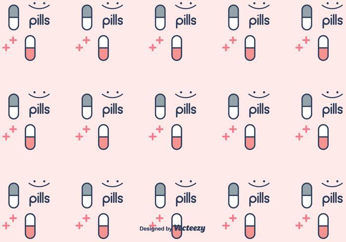Pillen Muster Vektor