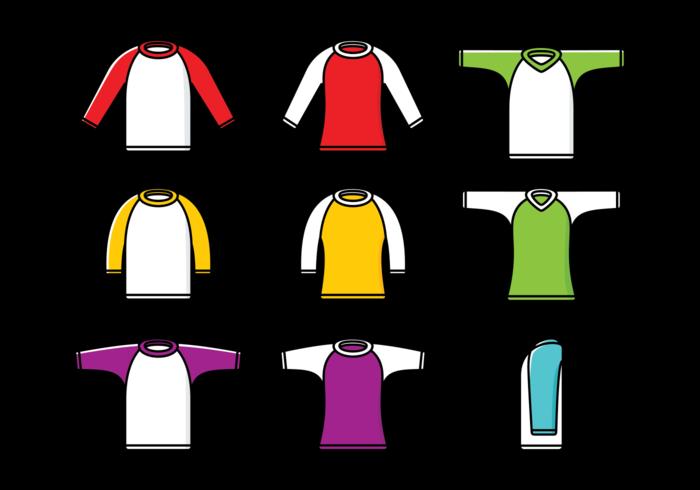 Raglan-T-Shirt der Männer vektor