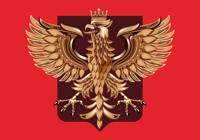 Holzschnitzerei Polnisches Wappen Vektor