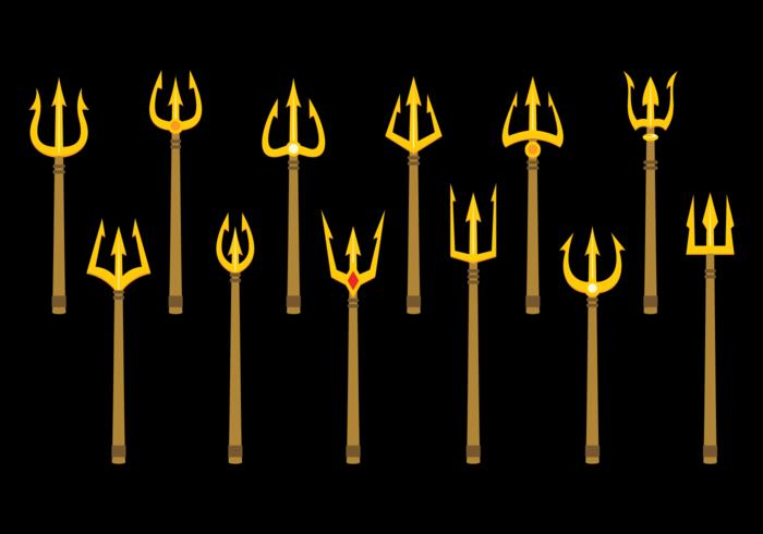 Poseidon Trident Vektor