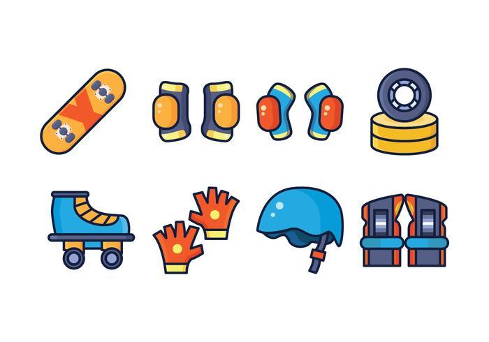 Gratis Skate Icon Pack vektor