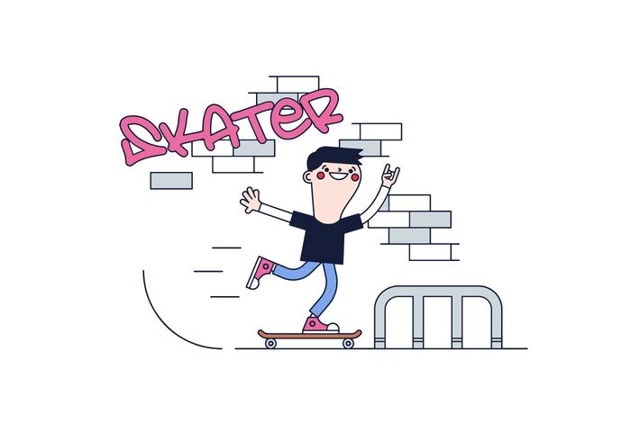 Freier Skater Vektor