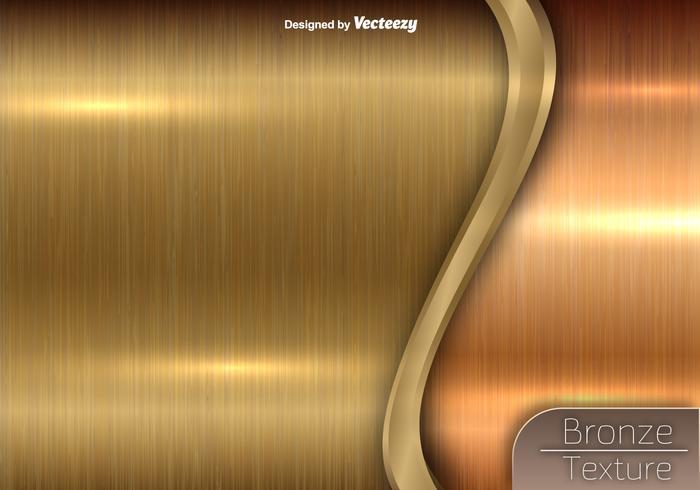 Bronze Textur - Vektor Metallic Hintergrund