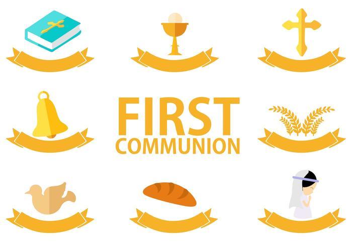 Freier erster Kommunion-Vektor vektor