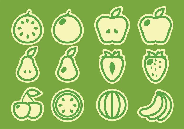 Pack av frukt vektorer