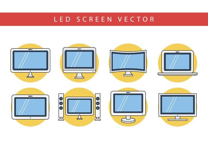 Gratis platt LED-skärmvektor vektor