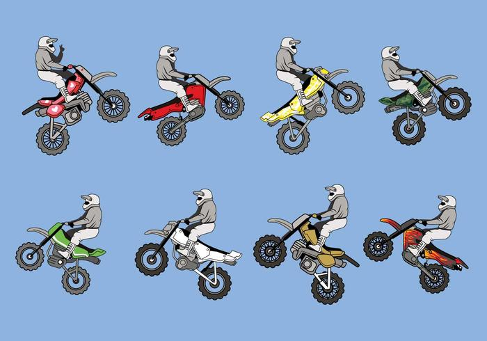 Frei dirt bikes vector