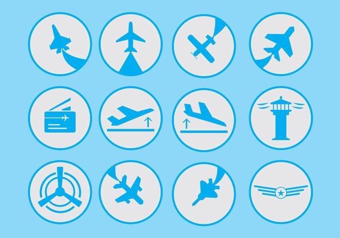 Luftfart Ikon vektor