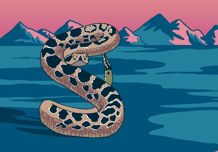Rattlesnake i öknen vektor