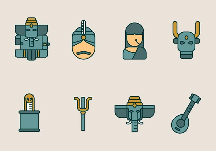Indian vector icon pack