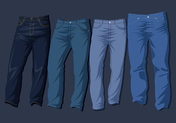 Blå Jeans Gratis Vektor
