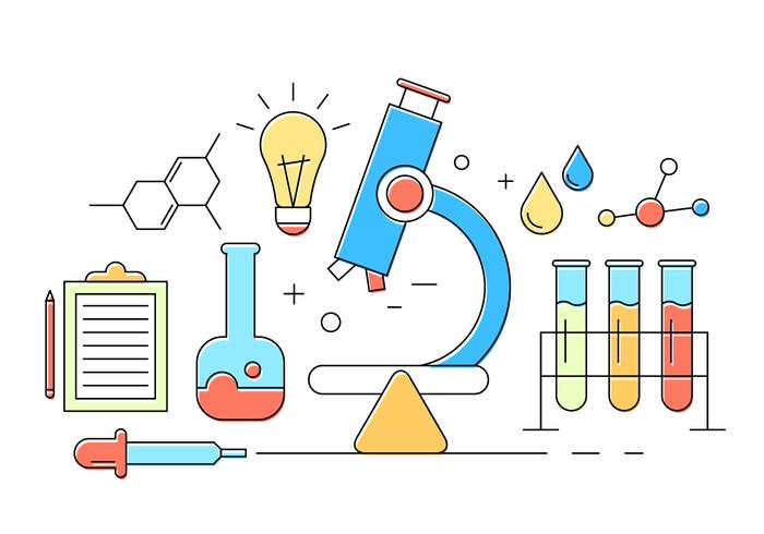 Kostenlose Chemie Icons vektor