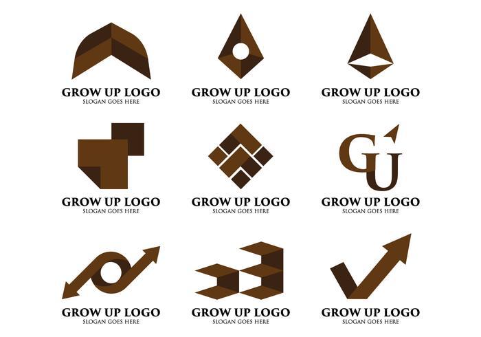 Wachsen Logo auf vektor