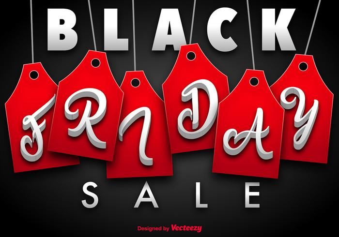 Black Friday Vector Vorlage