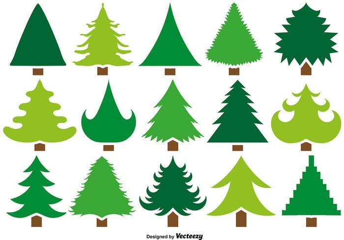 Vector Set Von 15 Pine Icons