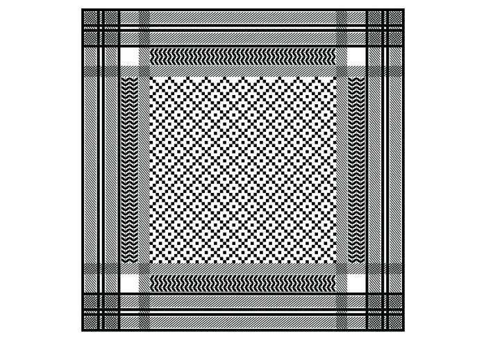 Keffiyeh Schwarzes nahtloses Muster vektor