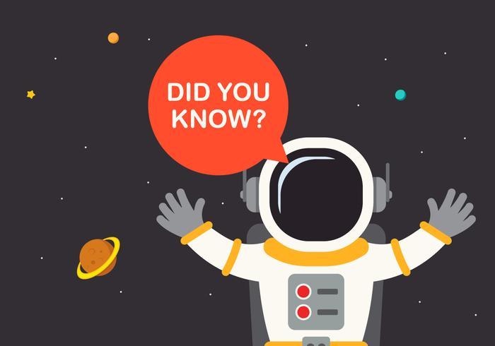 Trivia Spaceman och rymdskepps Encyclopedia vektor