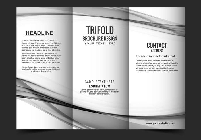 Gratis Vector Tri Fold Broschyr