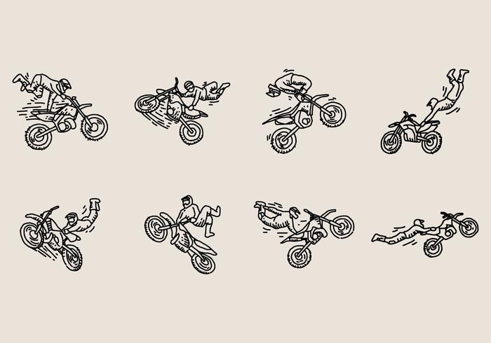 Motocross Freestyle Icon vektor