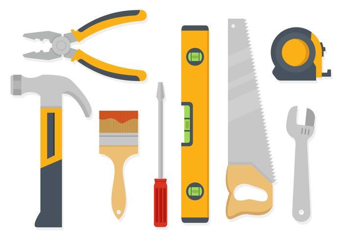 Freie Hand Arbeitswerkzeuge Vektor