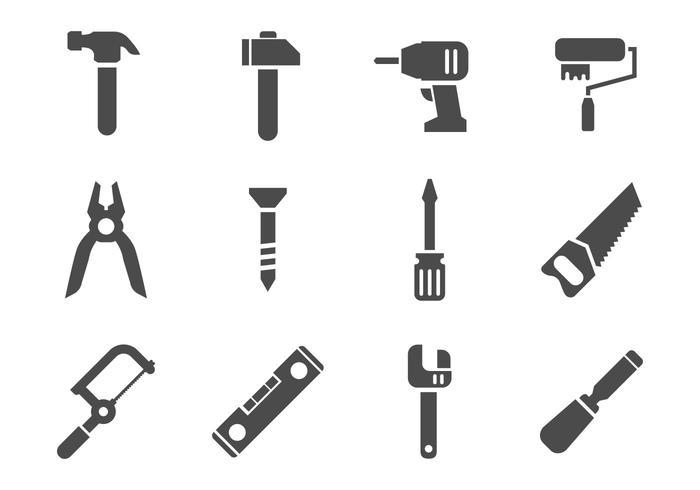 Freie Arbeit Werkzeuge Icons Vektor