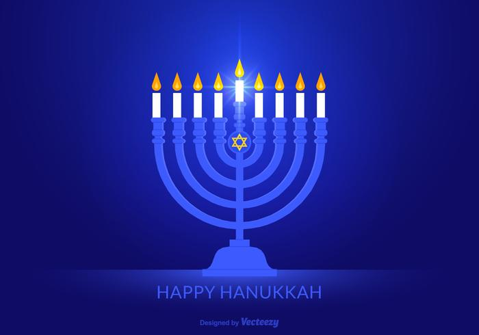 Gratis Glad Hanukkah Vector Bakgrund