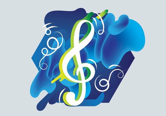 Frei Geigen Schlüssel Vektor