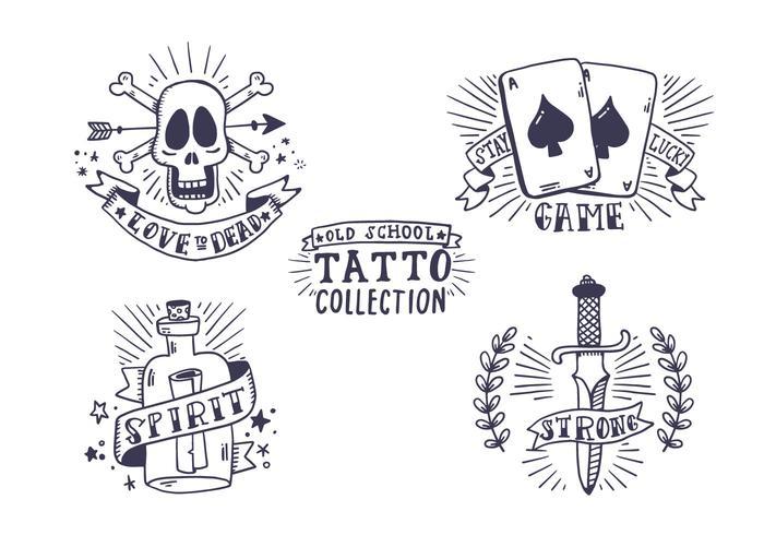Kostenlose Old School Tattoo Collection vektor