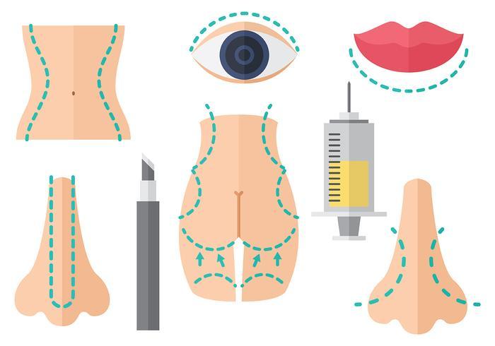 Gratis Plastikkirurgi Ikoner Vector