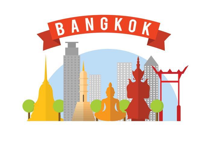 Kostenlose Bangkok Vektor-Illustration vektor