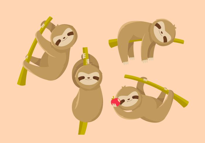 Sloth flacher Vektor