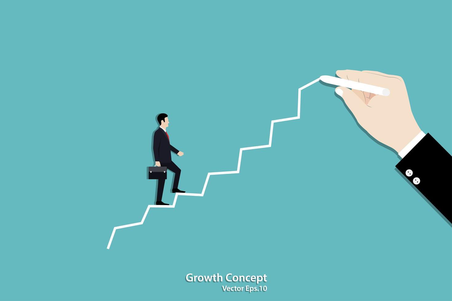 affärstillväxtmål vektor