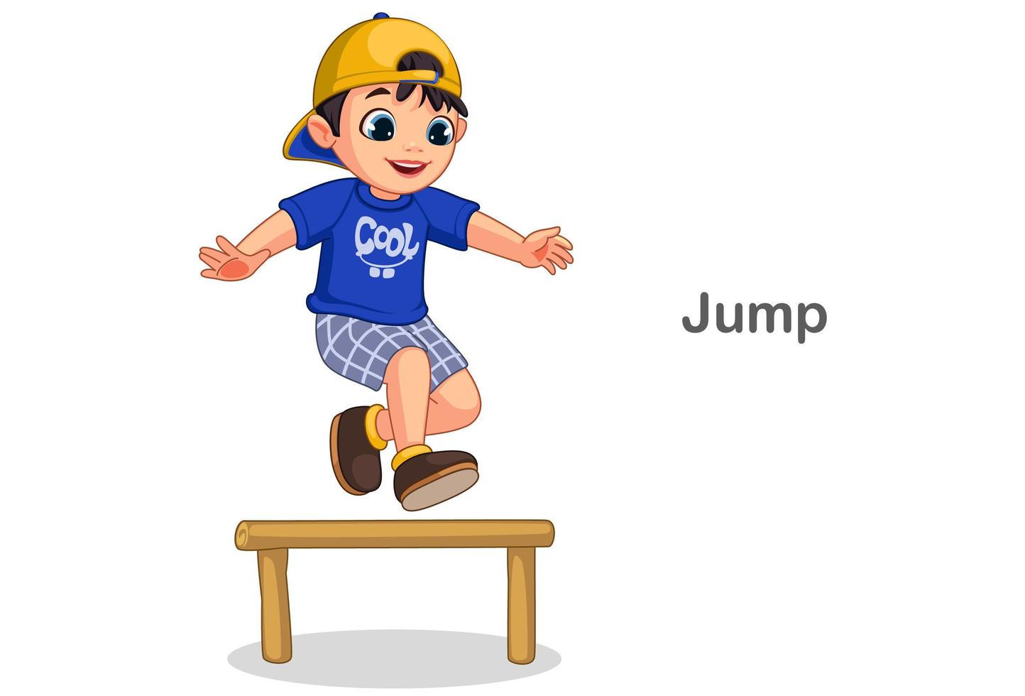 süßer Junge springt vektor