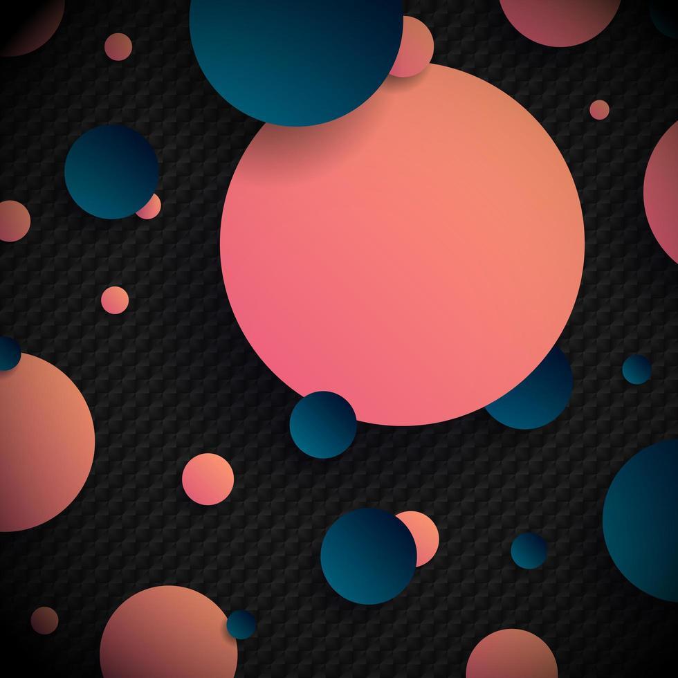abstrakt 3d rosa och blå lutning cirklar formar bakgrund vektor